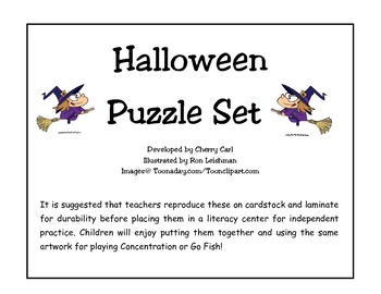 Halloween Puzzle Set
