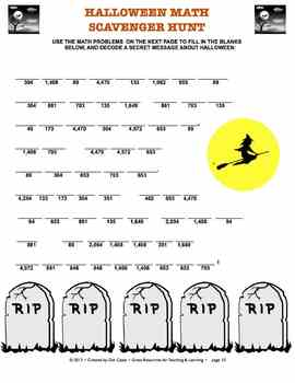 Halloween Puzzlers!  15 Literacy & Common Core Math Puzzles: Gr. 3 - 5