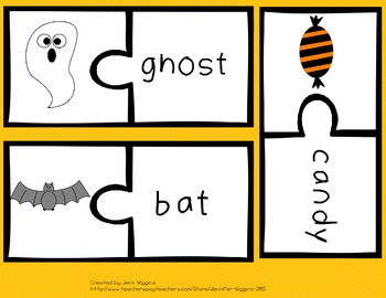 Halloween Puzzles ~ 30 Full Color Puzzles Plus Follow Up Activities