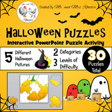 Halloween Puzzles - Google Classroom Puzzles PK-8 {Technology Activity}