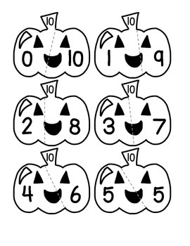 Halloween Puzzles - Making 10 and Doubles