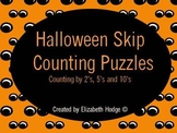 Halloween Puzzles Skip Counting by 2's, 5's and 10's