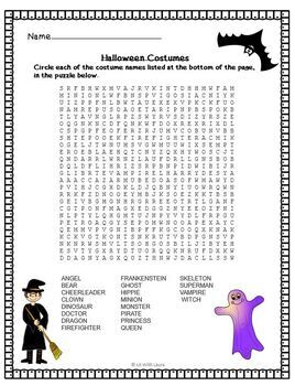 Halloween Puzzles and Word Games