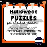 Halloween Puzzles for Algebra