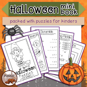 Halloween Puzzles for Kinders Mini Book