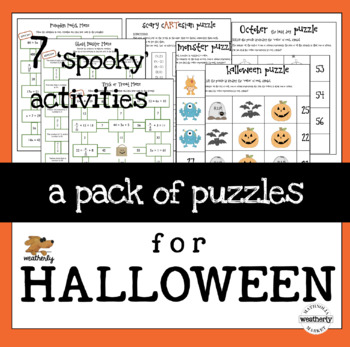 Halloween Puzzles for Math