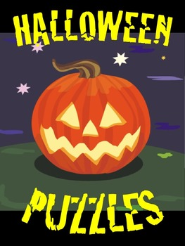 Halloween Puzzles with SKIP COUNTING