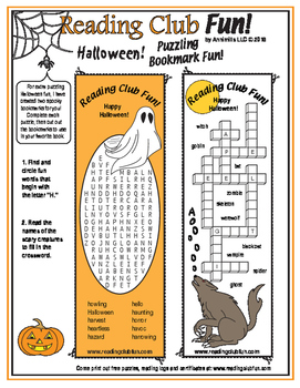 Halloween Puzzling Bookmarks