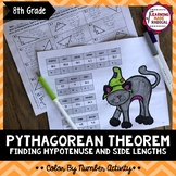 Halloween Pythagorean Theorem - Finding Hypotenuse & Side