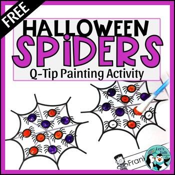 Halloween Q-Tip Painting - Free Sample