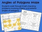 Angles of Polygons Maze