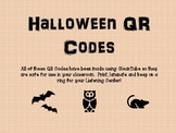 Halloween QR Codes for Listening Centers!