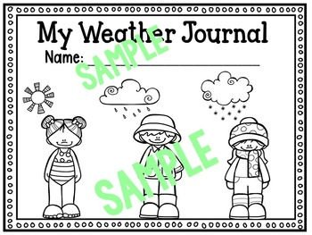 Weather Word Wall Cards and Weather Journal