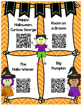 Halloween QR codes for Listen to Reading centers