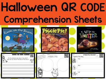 Halloween QR codes with Comprehension Sheets