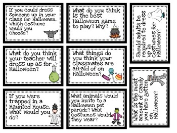 Halloween Question Cards-Instacards