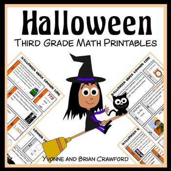 Halloween No Prep Common Core Math (3rd grade)