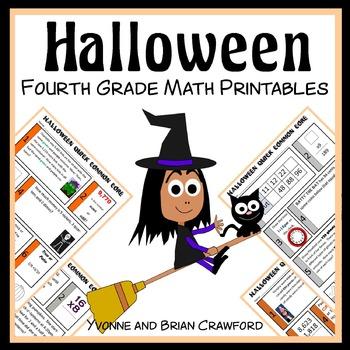 Halloween No Prep Common Core Math (4th grade)