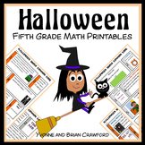 Halloween No Prep Common Core Math (5th grade)