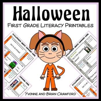 Halloween No Prep Common Core Literacy (1st grade)