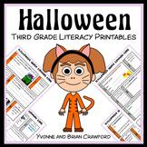 Halloween No Prep Common Core Literacy (3rd grade)