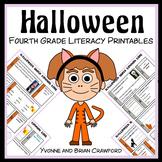 Halloween No Prep Common Core Literacy (4th grade)