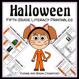 Halloween No Prep Common Core Literacy (5th grade)