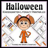 Halloween No Prep Common Core Literacy (Kindergarten)