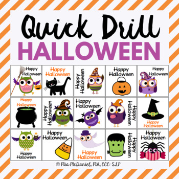 Halloween Quick Drill {for articulation or fluency therapy & RTi}