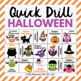 Quick Drill for Halloween {for speech therapy or any skill drill}