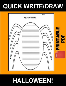 Halloween Quick Write/Draw