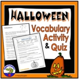 Halloween Quiz and Vocabulary Activity