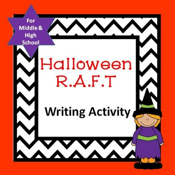 Halloween R.A.F.T. Writing Activity