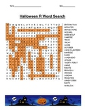 "Halloween ""R"" Word Search"