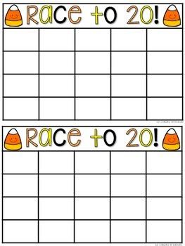 Halloween RACE TO 20! {Freebie!}