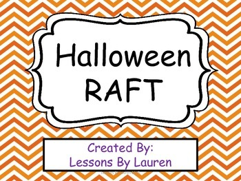 Halloween Writing RAFT