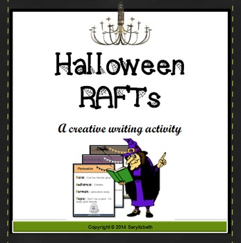 Halloween RAFT Writing Assignments