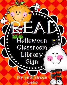 Halloween READ Library Sign