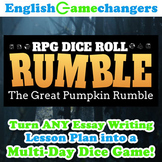 Halloween RPG Dice Roll Rumble: Turn ANY Essay Writing Les