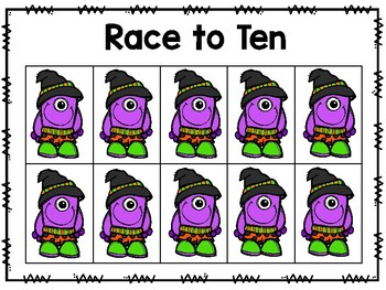 Halloween Race to Ten Freebie