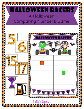 Halloween Racers - A Comparing Numbers Activity