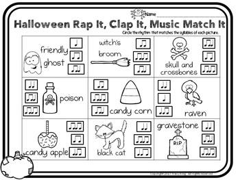 Halloween Rap It Clap It Music Match It