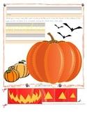 Halloween Pumpkin Trace and Cut - Fine Motor Skills Practice - Jack o' Lantern