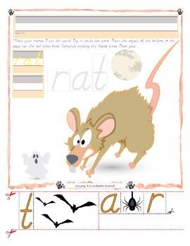 Halloween Rat Tracing and Cutting - Fine Motor Skills Practice - Halloween