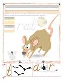 Halloween Rat Tracing and Cutting - Fine Motor Skills Prac