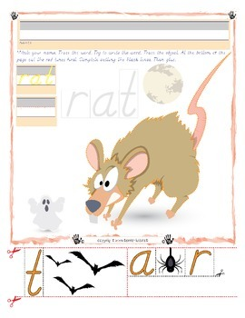 Halloween Rat Tracing and Cutting - Fine Motor Skills Prac