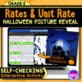 Halloween: Rates and Unit Rate Digital Math Mystery Picture Reveal