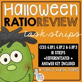 Halloween Ratio Review Task Strips CCSS 6.RP.1, 6.RP.2 & 6.RP.3 Aligned**