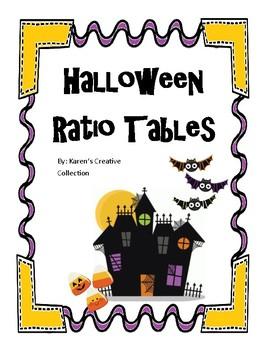 Halloween Ratio Tables