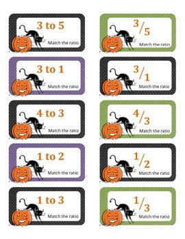 Halloween Ratios - Matching Activity